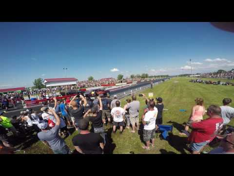 """Street Outlaws The Reaper Vs Ken Mottshaw in """"JAWS """"@ Empire Dragway 1st Rd of 4.70 Thunder 7-2-17"""