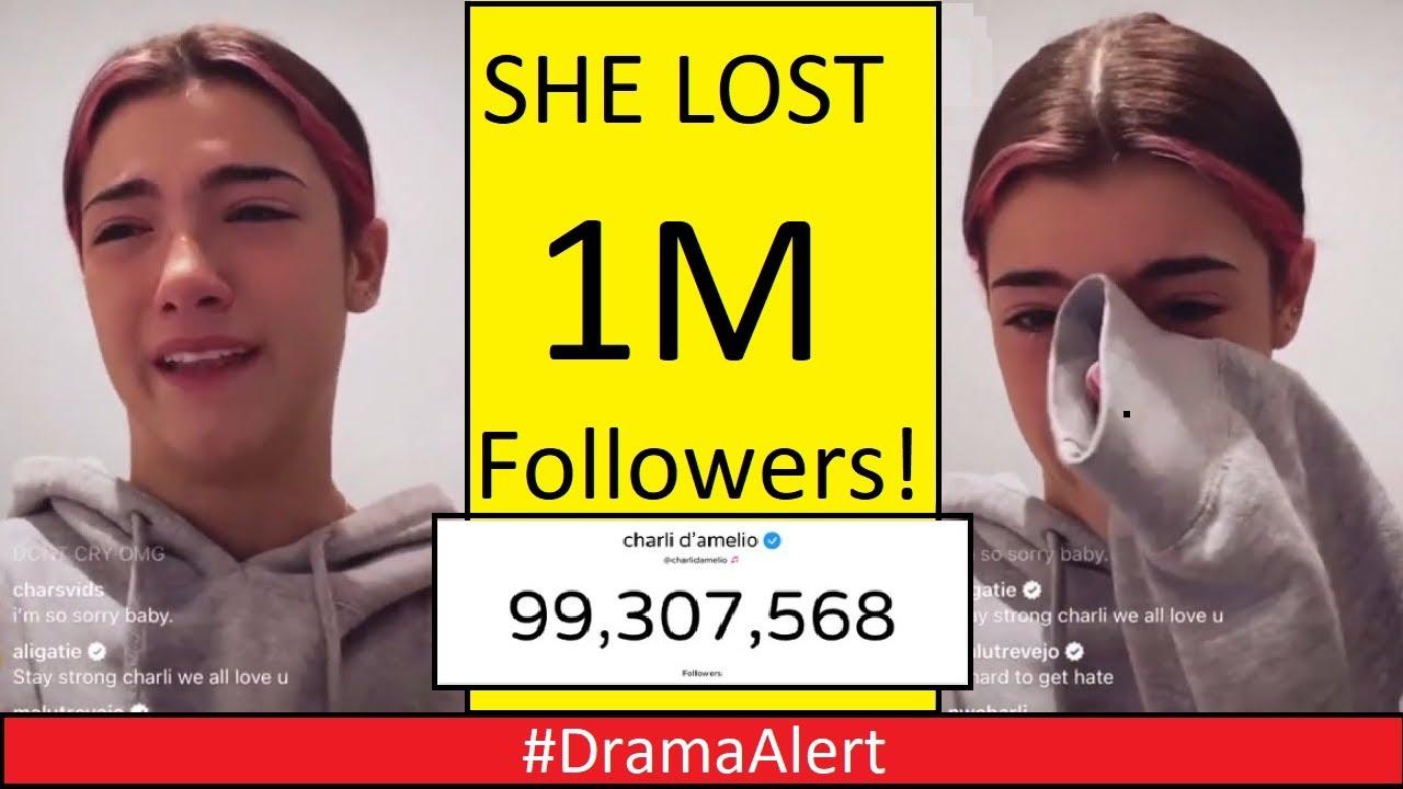 Charli D'amelio CRYING after Losing 1 Million Followers! #DramaAlert Logan Paul vs Austin Mcbro