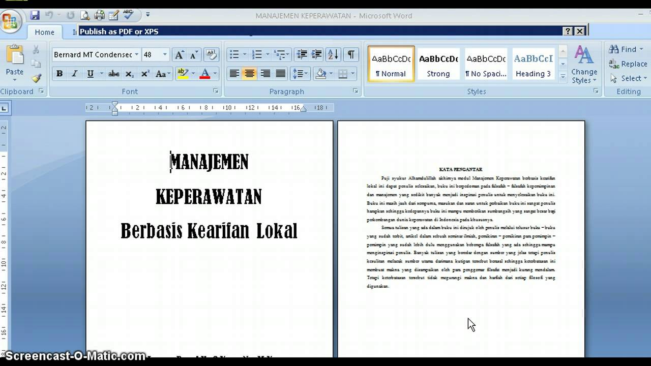 Microsoft Word 2007 Ebook