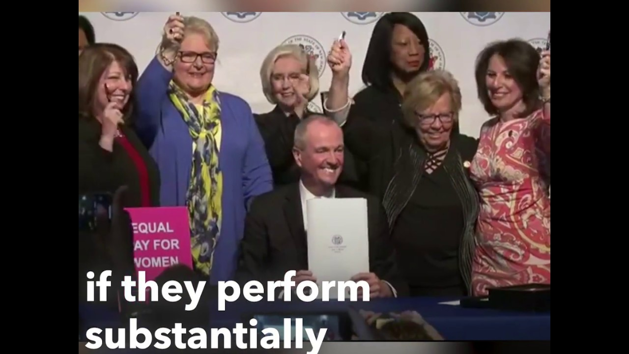 N.J. now has the strongest equal pay law in America - YouTube