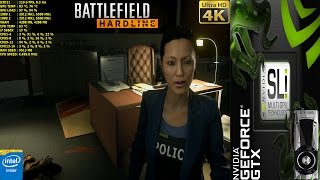 Battlefield HardLine Ultra Settings 4K | GTX 1080 SLI | HB Bridge | i7 5960X 4.5GHz