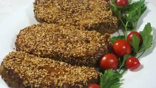 СОМ в кунжуте к Праздничному столу. Как приготовить сома?