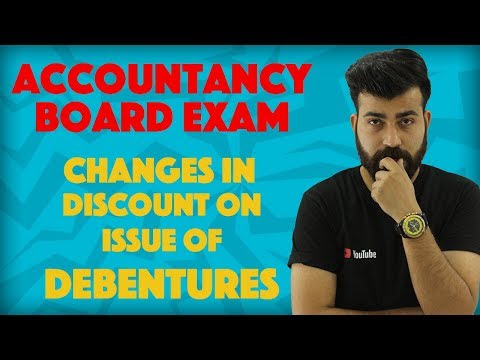 Important Changes in Discount on Issue of Debentures #teamcommercebaba