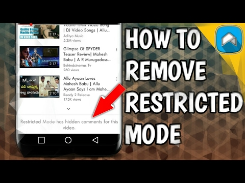 HOW TO REMOVE RESTRICTED MODE FROM YT    Alow tech    தடை செய்யப்பட்ட முறை