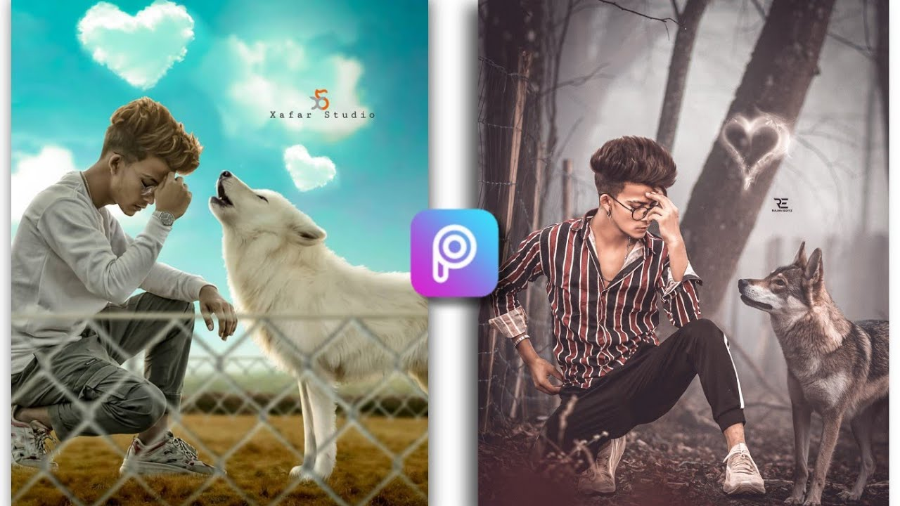 Animal Lover Photo Editing PicsArt Tautorial || PicsArt Wolf Photo Editing Tautorial