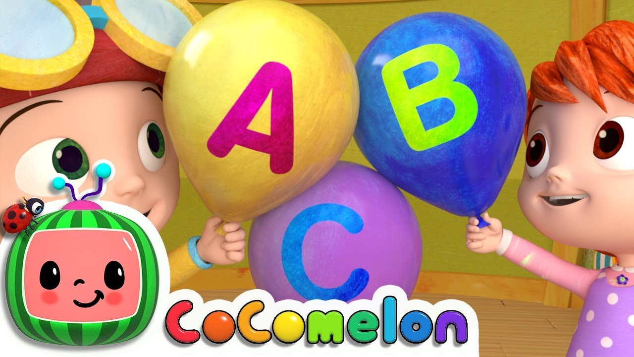 Abc Song With Balloons Cocomelon Nursery Rhymes Kids