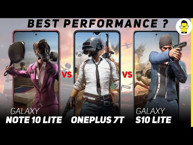 Galaxy S10 Lite vs Galaxy Note 10 Lite vs OnePlus 7T - PUBG and benchmarks comparison