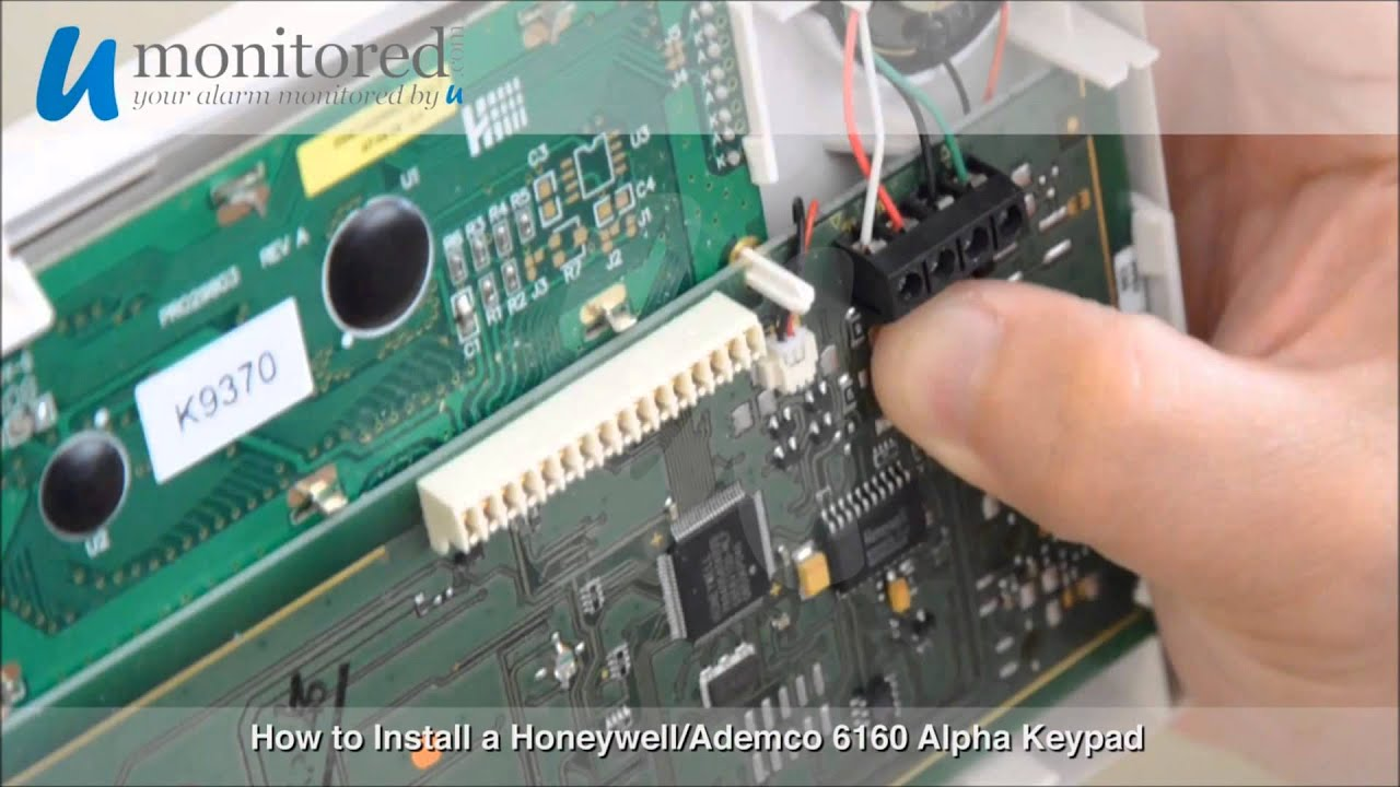 honeywell keypad installation youtube rh youtube com adt 6150 keypad manual 6150 keypad installation manual