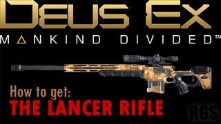 In Deus Ex Mankind Divided The Lancer Rifle is probably a bit overpowered and definitely way too beige but it almost makes one want to forget about ghosting