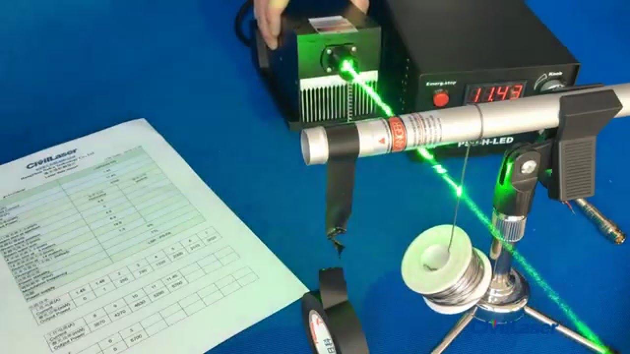 dpss laser 532nm 5w high power green laser cutting test youtube. Black Bedroom Furniture Sets. Home Design Ideas