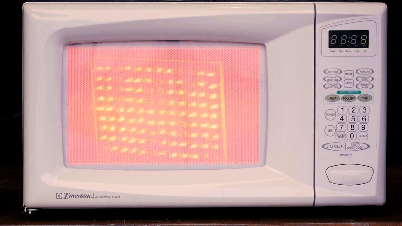 Visualizing Energy Inside A Microwave Oven Youtube