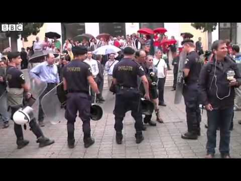 BBC News   Tight security as neo Nazis appear in Athens court