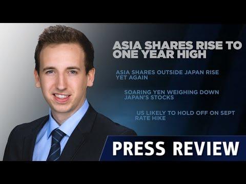 Hausse des actions en Asie
