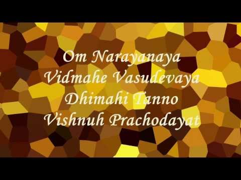 Mantra For Success And Prosperity | Vishnu Gayatri Mantra | With English Text