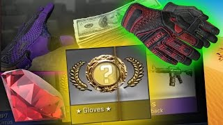 CS:GO - Top 5 Most Expensive Glove Unboxing Videos! (Gloves Case)