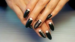 Дизайн ногтей гель-лак Shellac - дизайн ногтей со стразами (уроки дизайна ногтей)