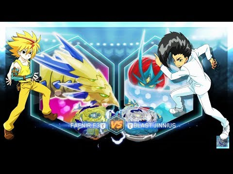 DRAIN FAFNIR F3 VS BLAST JINNIUS J3 | Beyblade Burst Evolution App Battle | ベイブレードバースト 베일 블레이드 버스트