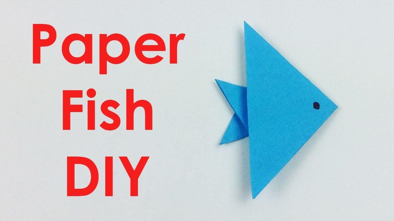 Easy Origami Fish - Origami for Kids | Origami für kinder, Origami ... | 720x1280