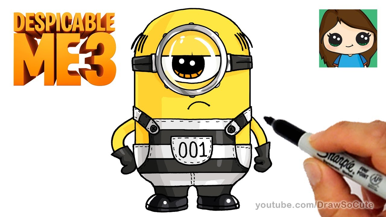Show me how to draw a minion - How To Draw A Minion Despicable Me 3