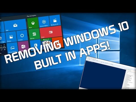 Remove Pre-Installed Windows Apps! Bloat Be Gone!