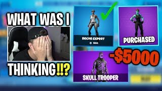 Calculating how much money i've spent on fortnite skins... (shocking)