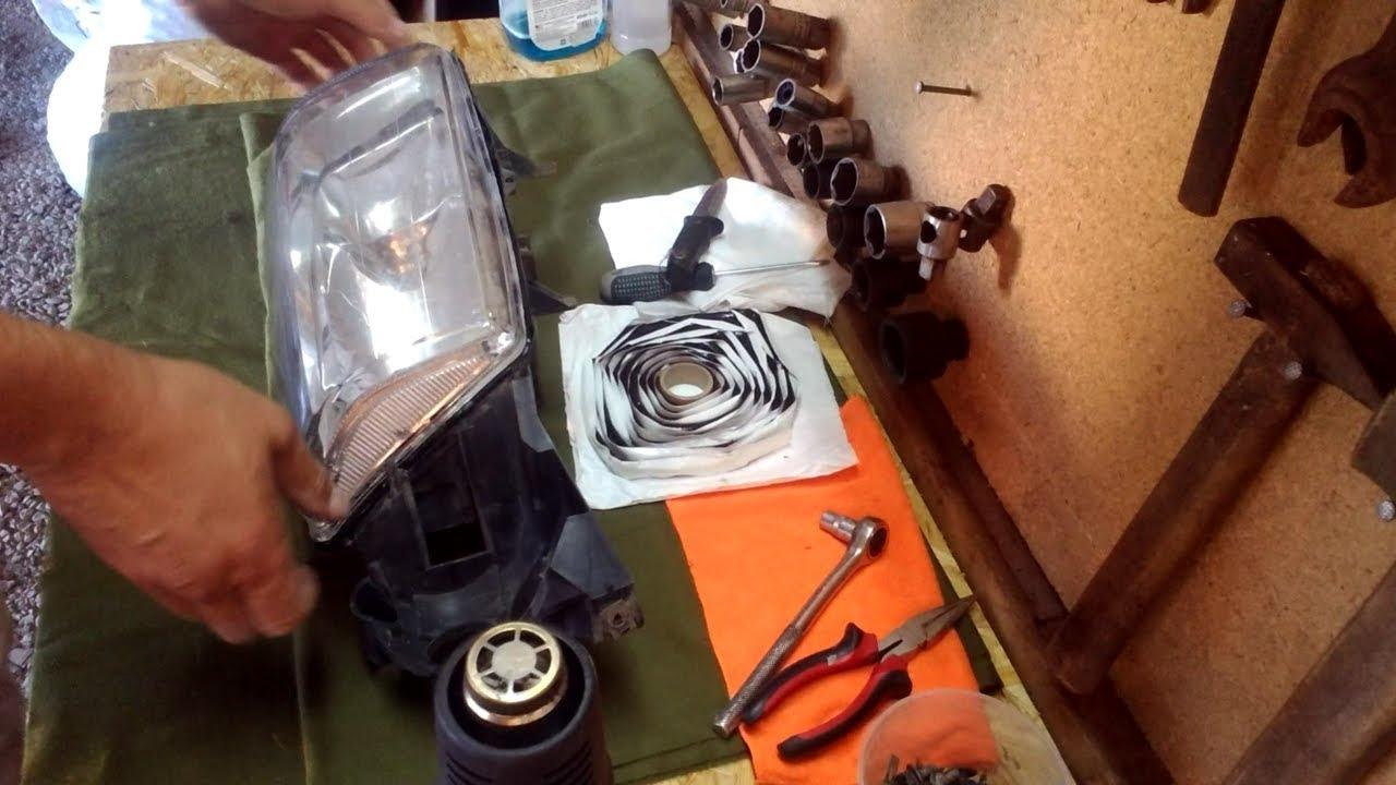 Вольво S80. Замена уплотнителя фары, установка бутиловой ленты.