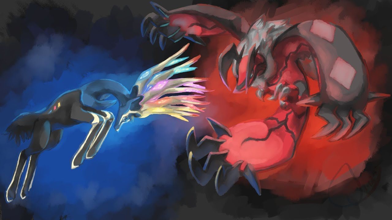 Yveltal And Xerneas Battle