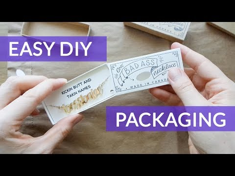 Cheap Diy Product Packaging Necklace Match Box Youtube