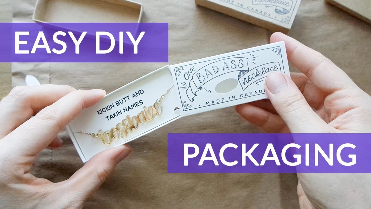 Cheap DIY Product Packaging - Necklace Match Box - YouTube