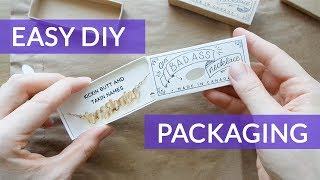 Cheap DIY Product Packaging  - Necklace Match Box