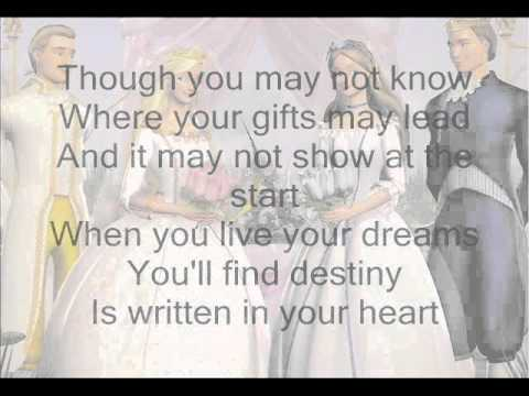 Written in your Heart- Barbie as the Princess and the Pauper w/ Lyrics