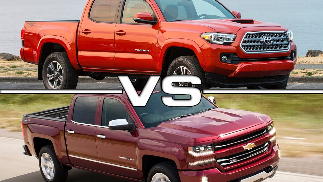 2016 Toyota Tacoma vs 2016 Chevrolet Silverado 1500 - YouTube