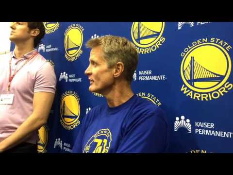 "Kerr on Ron Adams: ""...first time (Kevin Durant)"