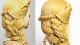 Easy  hairstyles. Hair tutorial. Combo braid for everyday.