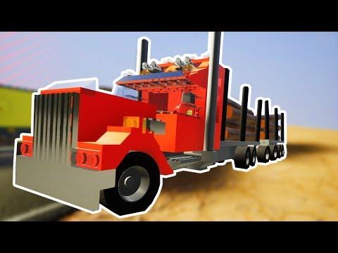 Brick Rigs Game | CANYON TRUCK CRASHING CHALLENGE! | Brick Rigs Gameplay - New Update