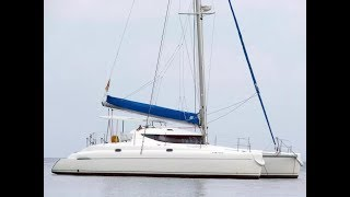 fP Athena 38 (2002г).Vessel walkthrough.  Обзор катамарана по низу рынка