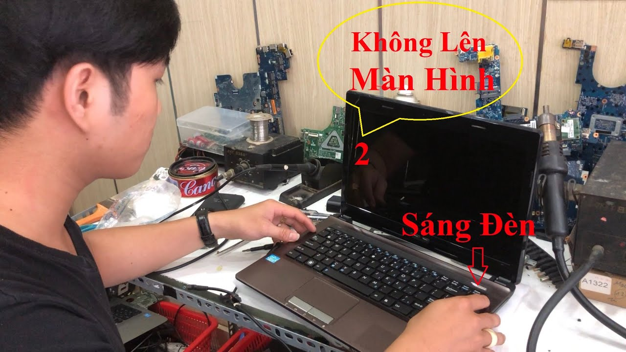 Khắc phục lỗi Laptop không lên màn hình||Fix a blank or black screen not powering up issues laptop