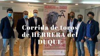 Presentación festejo HERRERA DEL DUQUE 15/08/2020
