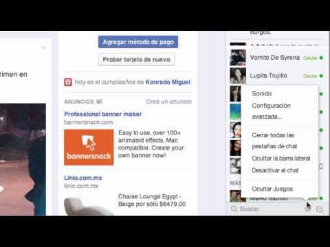 ¿Cómo Desactivar Y Volver A Activar El Chat En Facebook? 2014