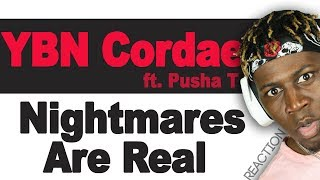 YBN Cordae - Nightmares Are Real ft. Pusha T - TM Reacts (2LM Reaction)