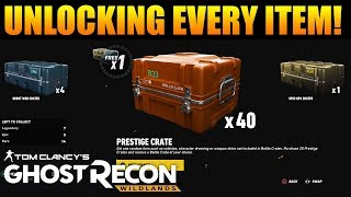 UNLOCKING EVERY ITEM IN BATTLE CRATES! | Ghost Recon Wildlands PVP Battle Crate Unboxing