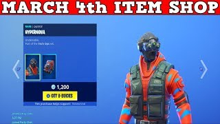 Fortnite Item Shop (March 4th) | *NEW* HYPERNOVA Skin & BRUTE FORCE Pickaxe!