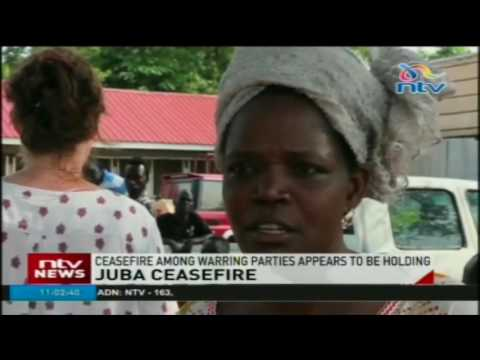 Ceasefire in South Sudan's capital appears to be holding