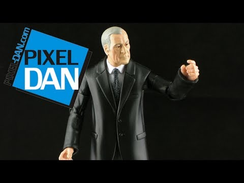 Mattel Dark Knight Rises Movie Masters Alfred Pennyworth Figure Review