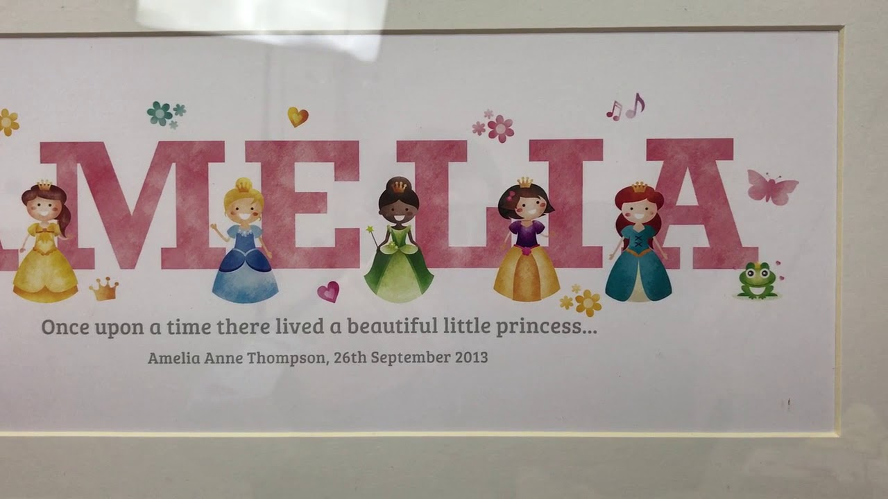 Frame My Name - Princess Adventures framed name gifts - YouTube