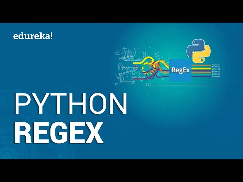 Python RegEx | Python Regular Expressions Tutorial |  Python Tutorial | Python Training | Edureka