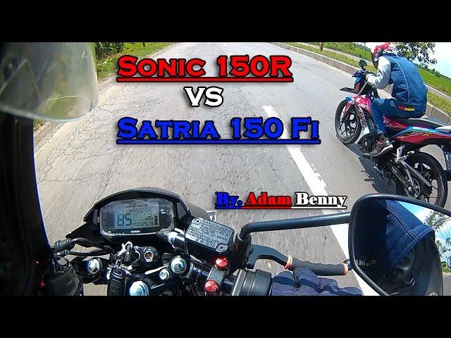 Hot! Sonic 150R VS Satria 150 Fi Drag Racing (201m, 402m, & 1000m) - ADAM BENNY