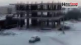 Denizli'de Karlı Yolda Kayan Araçların Zor Anları - Denizli Haberleri - HABERDENİZLİ.COM