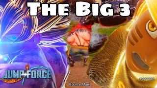GOKU, NARUTO & LUFFY Team Up! Jump Force Open Beta Main Characters Gameplay!