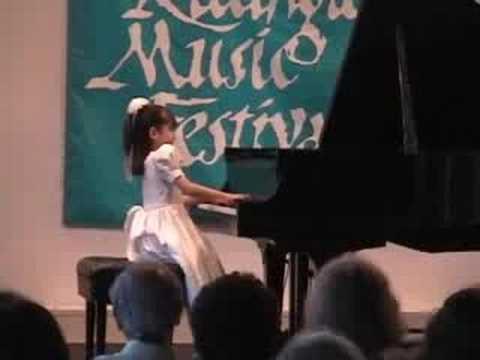Umi Garrett, 7 Year Old  Chopin Waltz Op64, No1